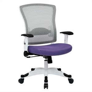 White Frame Managers Office Chair in Purple