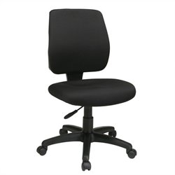 Office Star Task Office Chair with Ratchet Back Height Adjustment in Coal