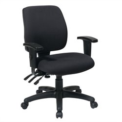 Office Star Mid Back Dual Function Ergonomic Office Chair in Coal