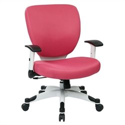 Office Star Pulsar Chair with Padded Mesh Seat and Back in Pink