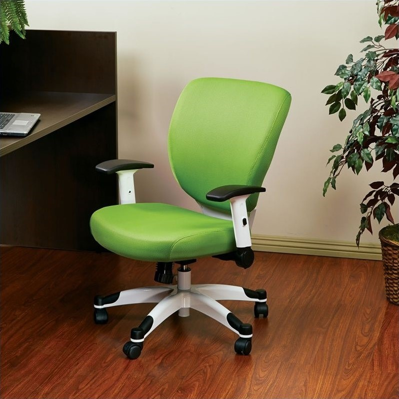 Office Star Pulsar Office Chair with Padded Mesh Seat and Back in Green
