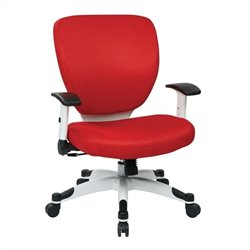 Office Star Pulsar Office Chair with Padded Mesh Seat and Back in Red