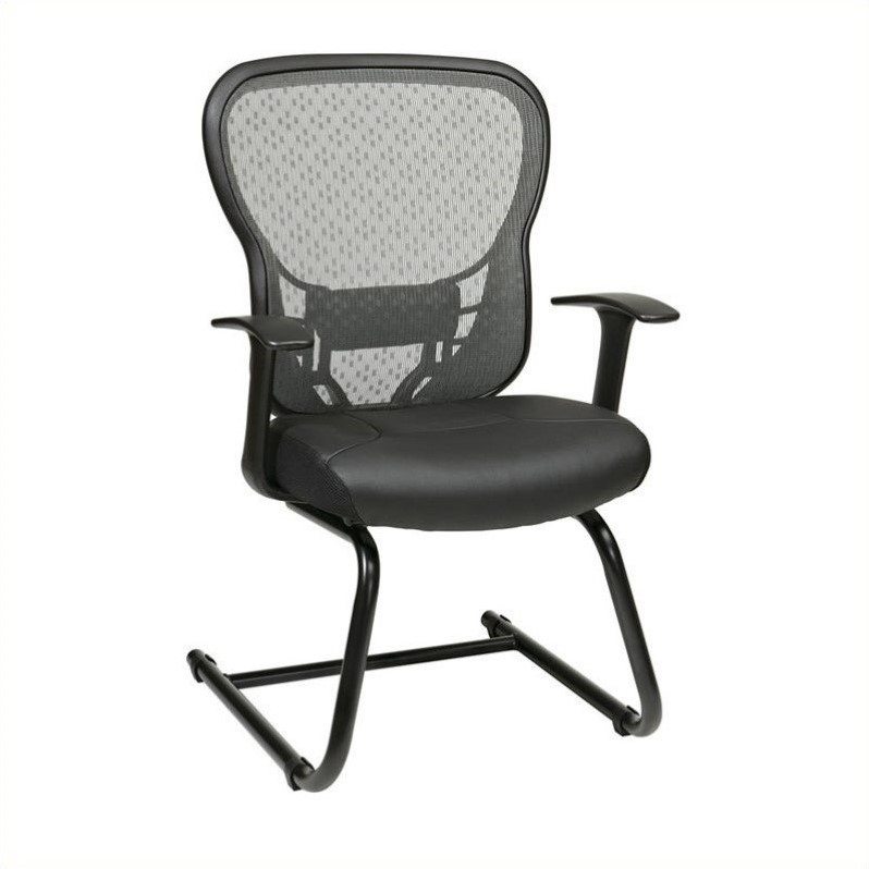 Back Guest Chair with Fixed Arms