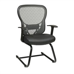 Office Star 529 Series SpaceGrid Back Guest Chair with Fixed Arms