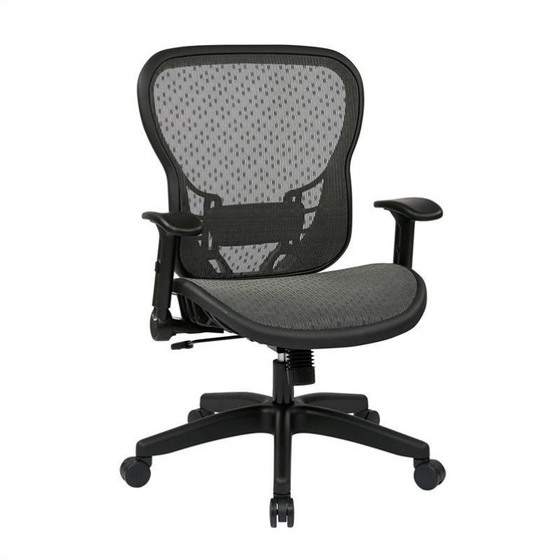 SpaceGrid Back Office Chair with Flip Arms