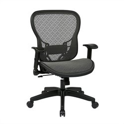 Office Star 529 Series SpaceGrid Back Office Chair with Flip Arms