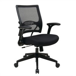 Office Star 67 Series Mesh Seat Managers Office Chair in Black
