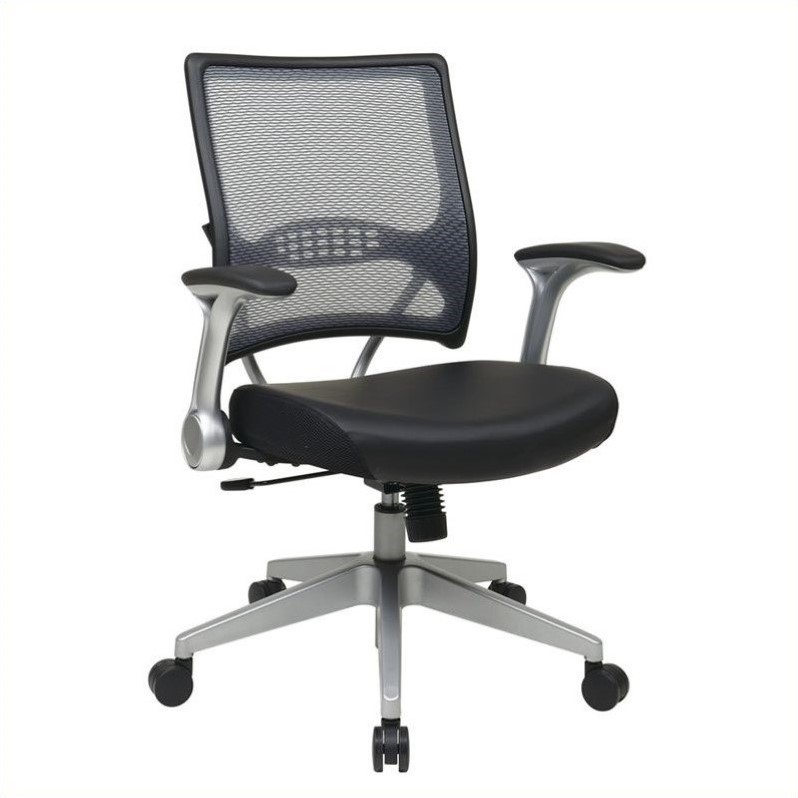 67 Series AirGrid Back and Eco Leather Managers Office Chair in Black