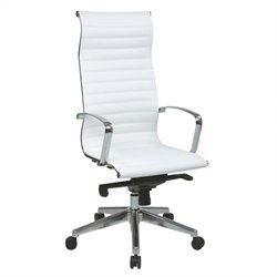 Office Star High Back Eco Leather Chair in White