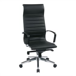 Office Star High Back Eco Leather Office Chair in Black