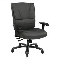 Office Star 7600 Series Deluxe Executive Office Chair in Grey