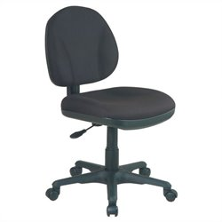 Sculptured Task Office Chair without Arms in Black