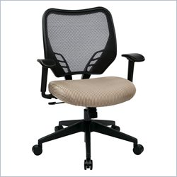 Office Star 81 Series VeraFlex Seat and AirGrid Back Chair in Latte