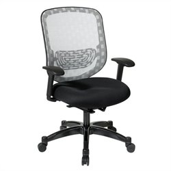 Office Star 829 Series Mesh Office Chair in White