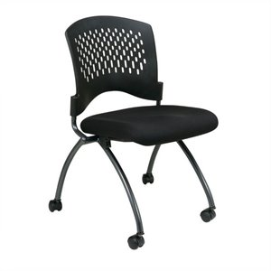 Set of 2 Armless Folding Chair in Coal