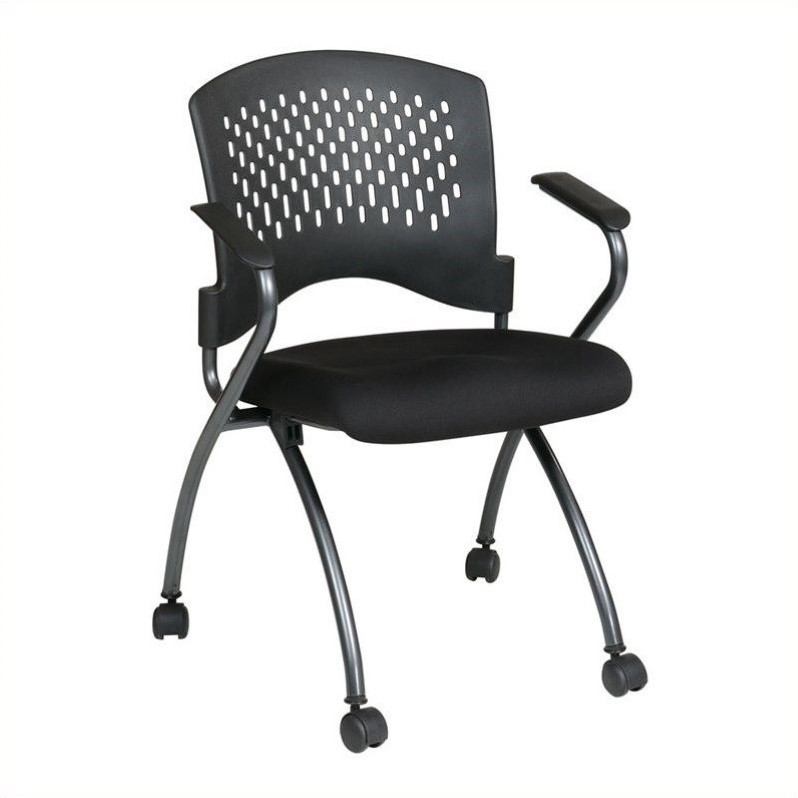 Set of 2 Folding Chair with Arms in Coal 30
