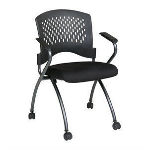Set of 2 Folding Chair with Arms in Coal