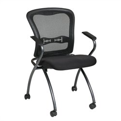 Set of 2 Deluxe Folding Chair with Arms in Coal