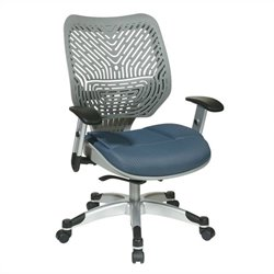 Office Star 86 REVV Series SpaceFlex Back Office Chair in Blue Mist