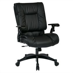 Office Star 93 Series Eco Leather Conference Office Chair in Black