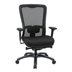 Office Star ProGrid High Back Office Chair in Coal