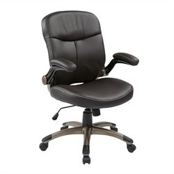 Office Star ECH Series Mid Back Eco Leather Office Chair in Espresso