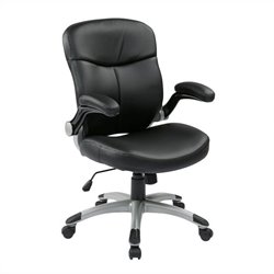 Mid Back Eco Leather Office Chair in Black