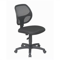 Office Star EM Series Mesh Screen Back Task Chair in Black