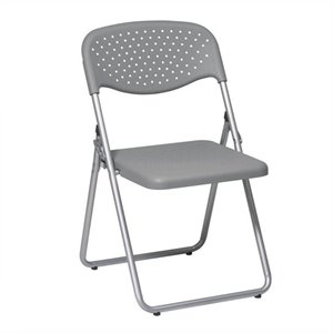 Set of 4 Plastic Folding Chair in Grey