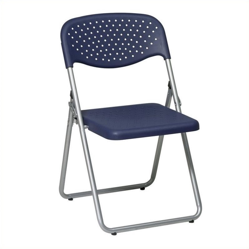 Set of 4 Plastic Folding Chair in Blue FC8000NS 7