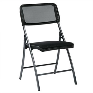 Set of 2 Folding Chair in Black