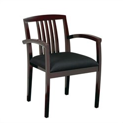 Office Star Kenwood Set of 2 Leg Guest Chair in Mahogany