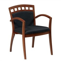 Set of 4 Leg Guest Chair in Satin Cherry