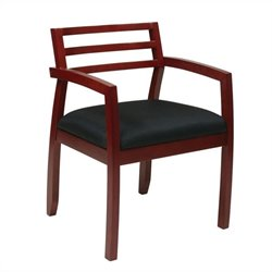 Office Star Napa Guest Chair With Wood Back in Cherry