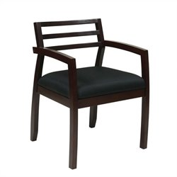 Office Star Napa Guest Chair With Wood Back in Espresso
