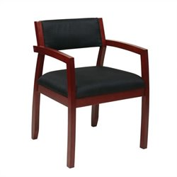 Office Star Napa Guest Chair With Upholstered Back in Cherry