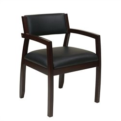 Office Star Napa Guest Chair With Upholstered Back in Espresso
