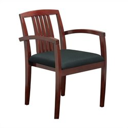 Office Star Sonoma Set of 4 Guest Chair with Wood Slat Back in Cherry
