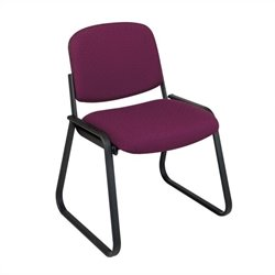 Office Star Deluxe Sled Base Armless Guest Chair in Cabernet