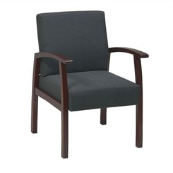 Deluxe Guest Chair in Cherry and Charcoal
