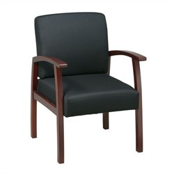 Office Star WD Deluxe Guest Chair in Cherry Finish
