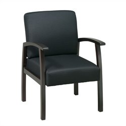 Office Star WD Deluxe Guest Chair in Espresso and Black