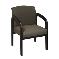 Office Star WD Wood Visitor Guest Chair in Taupe and Espresso