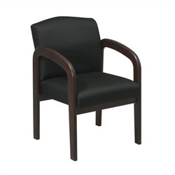 Wood Guest Chair in Espresso and Black