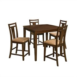 Office Star Brentwood 5 Piece Dining Set in Cherry