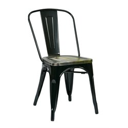 Bristow Metal Stacking Chair in Ash Cameron (Set of 2)