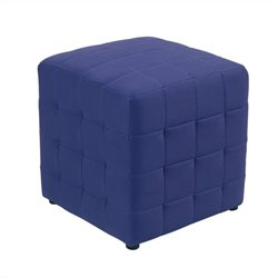 Office Star Detour Fabric Ottoman Cube in Purple