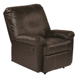 Office Star Kensington Recliner in Espresso