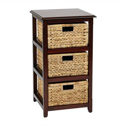 Office Star Seabrook Three Tier Storage Unit in Espresso