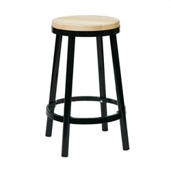 Office Star Bristow Metal Backless Bar Stool in Black